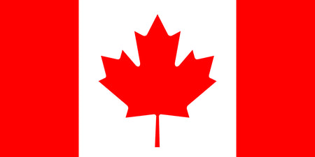 Canadian Polyester Fabric Flag 5ft x 3ft