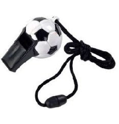 Football Design Whistle - Assorted Colours