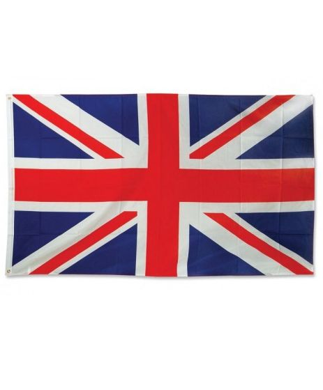 British Union Jack Polyester Fabric Flag - 5ft x 3ft