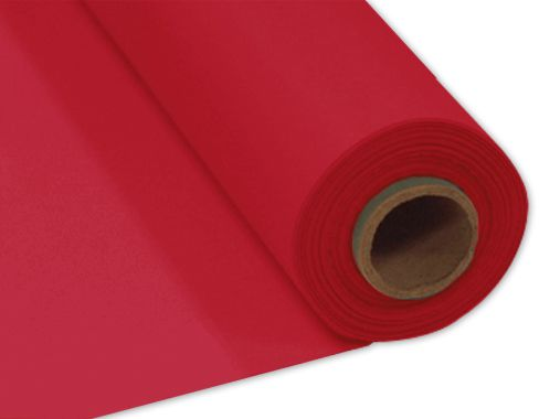 Red Plastic Table Roll - 30.5m x 1m