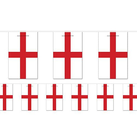 England St George's Flag Bunting - 2.4m