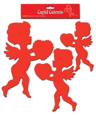 "Cupid Cutouts - Pack of 6 - 9"" - 13"""