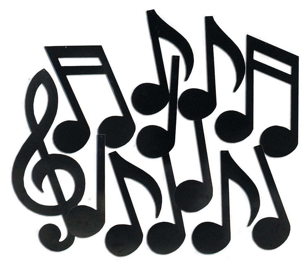 Musical Notes - Set of 12 - 18""