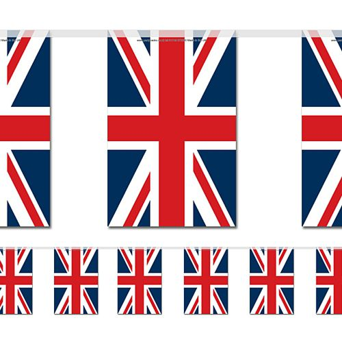 British Union Jack Large Flag Bunting - 4m