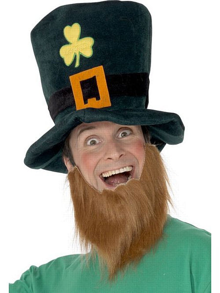Irish Leprechaun Hat With Attached Beard