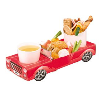 Red Sports Car Combi Food Box - 29.5cm - Each