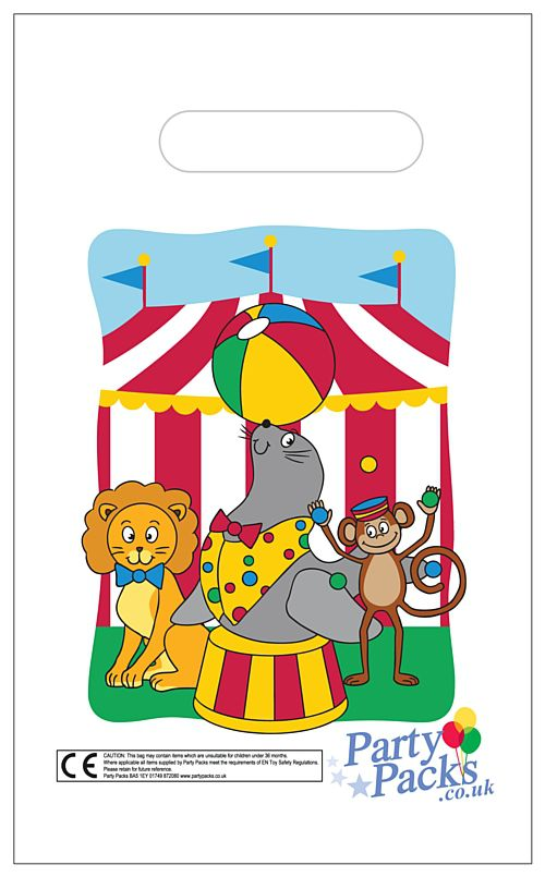 Circus Party Bags - 31cm - Each