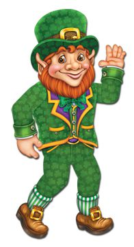 Leprechaun Jointed Cutout Wall Decoration - 84cm