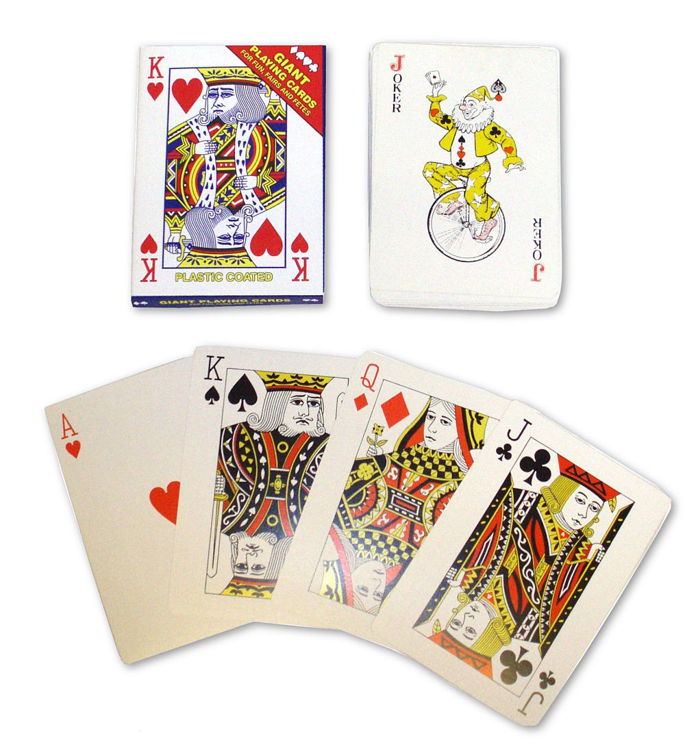 Pack of Giant Playing Cards - 17.8cm
