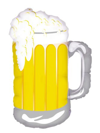 Beer Mug Foil Balloon - 34""
