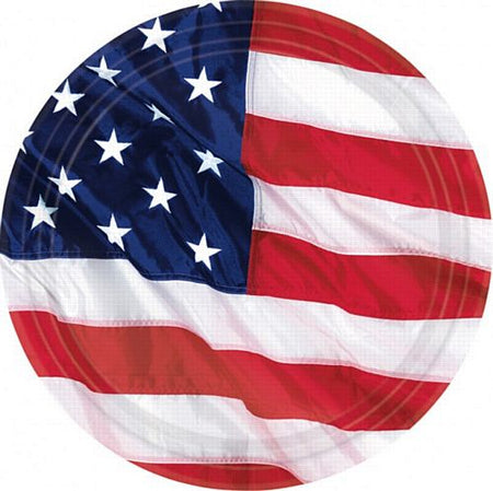 American Flag Flying Colours Plates - Pack of 8