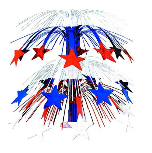Red, White and Blue Star Cascade Centrepiece 46cm