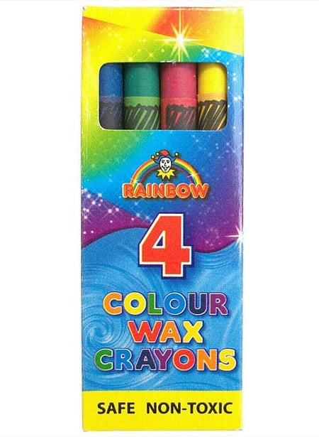 Box of 4 Wax Crayons - 9cm