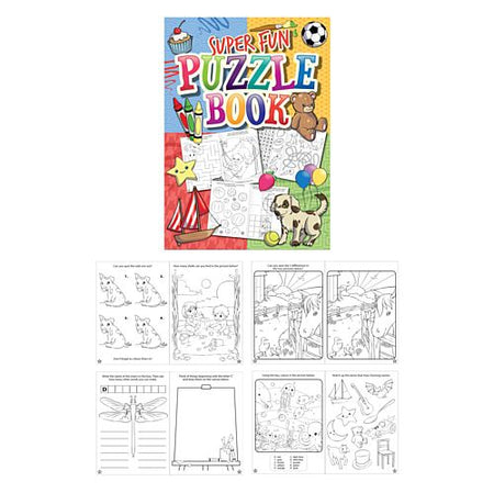 Fun Puzzle Book - 16 Pages - 14.5cm - Each