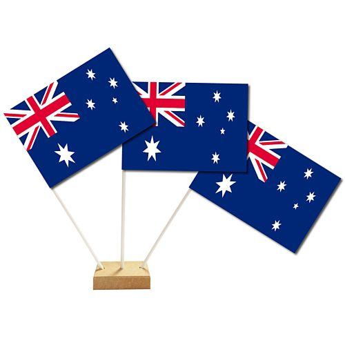 "Australian Table Flags 6"" on 10"" Pole"