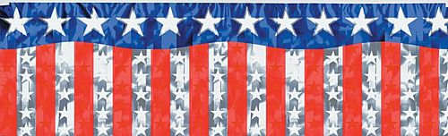 American Stars and Stripes Metallic Banner - 1.2m