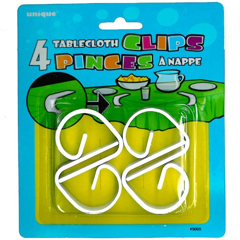 Sure-Hold Tablecloth Clips - Pack of 4