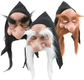 Assorted Gnome Mask with Hood & Hair