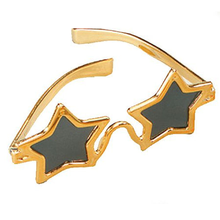 Gold Star Shaped Glasses