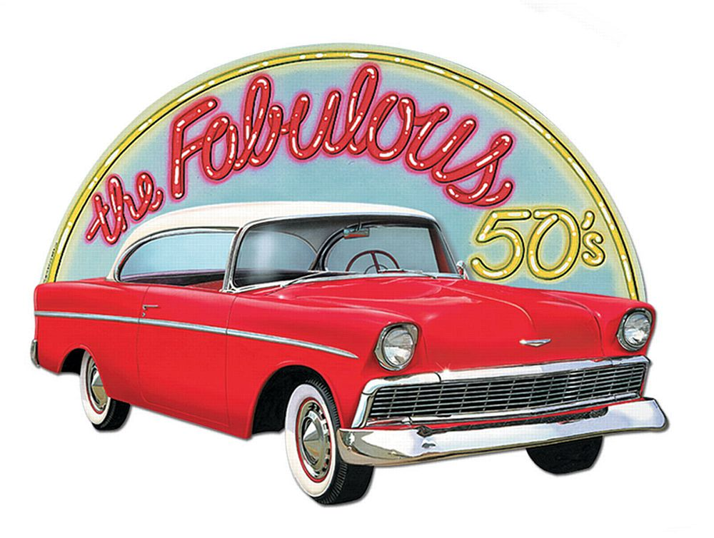 "Fabulous 50s sign 25"" x 18"""