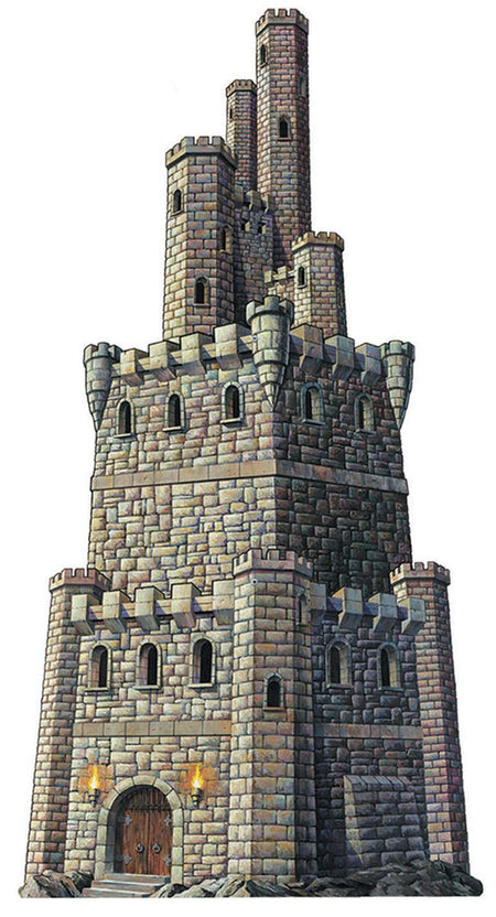 Castle Tower Jointed Cutout Wall Decoration - 1.2m