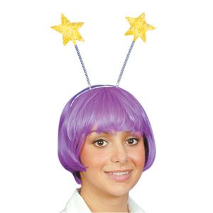 Gold Star Glitter Head Boppers