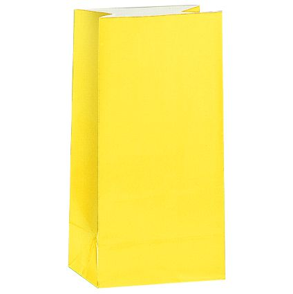 Yellow Party Bags - Pack of 12