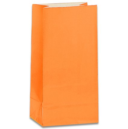 Orange Party Bags - Pack of 12
