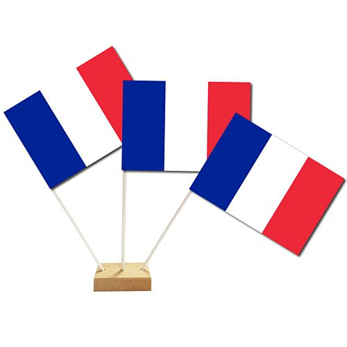 "French Table Flags 6"" on 10"" Pole"