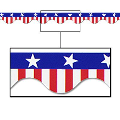 American Stars and Stripes Border Trim - 11.3m