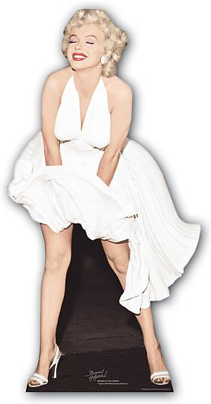 Marilyn Monroe in White Dress Lifesize Cardboard Cutout - 1.57m