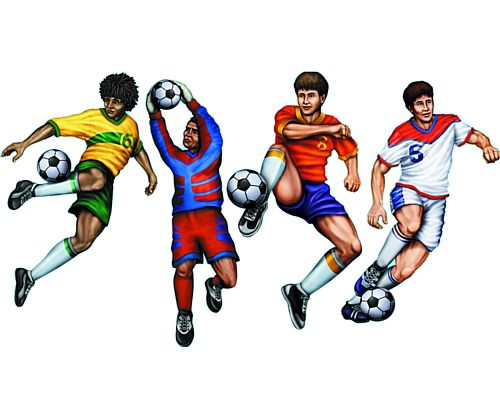 Football Figure Cutouts - Set of 4 - 20""