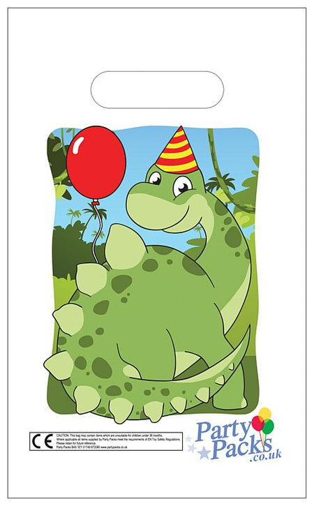 Dinosaur Party Bags - 31cm - Each