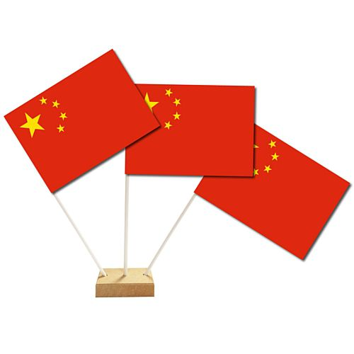 "Chinese Table Flags 6"" on 10"" Pole"