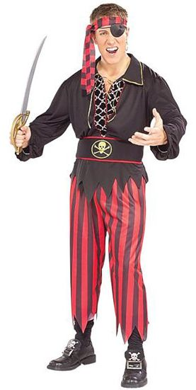 Red And Black Pirate Costume