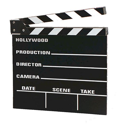 Large Wooden Clapperboard - 30cm