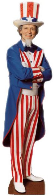 Uncle Sam Cardboard Cutout - 1.91m