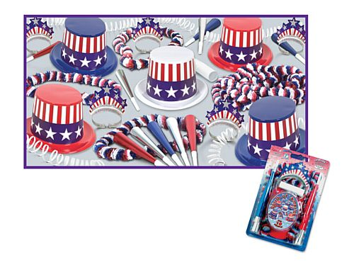 Spirit of America Hat and Novelty Party Pack For 10 People