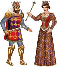 King & Queen Jointed Cutout Wall Decoration - 96cm - Set of 2