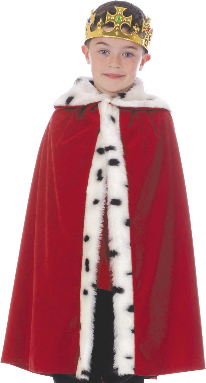 Children's Deluxe King or Queen Cloak - Red