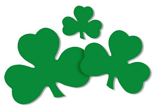 St. Patrick's Day Irish Lucky Shamrock Cutouts - 30cm - Pack of 9