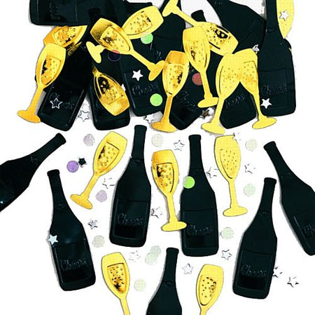 Click to view product details and reviews for Champagne Bottles Glass Confetti 14g.