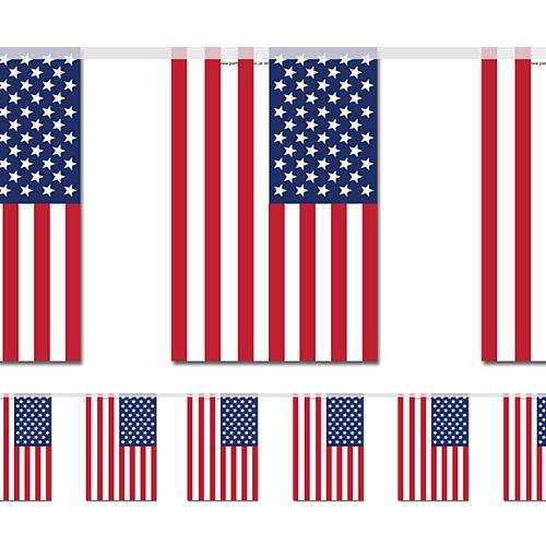 American Large Flag Bunting - 4m
