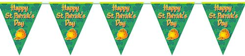 Happy St Patrick's 'All Weather' Bunting - 3.7m (12') - 12 flags