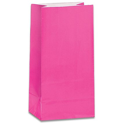 Hot Pink Party Bags - Pack of 12