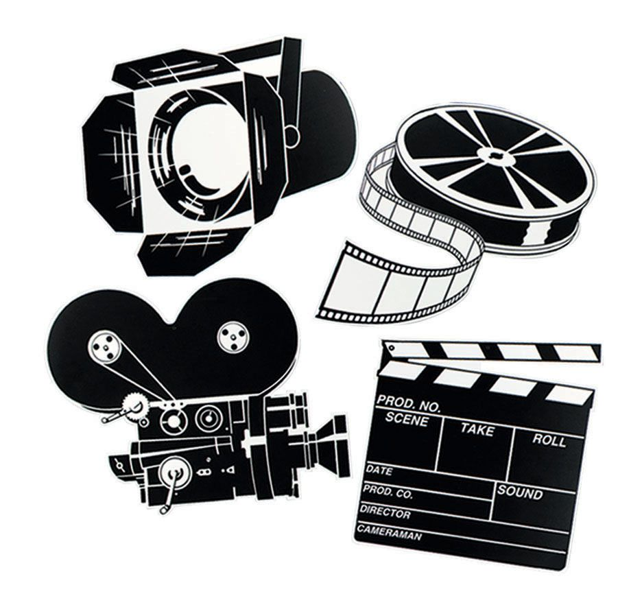 Movie Cutouts - Set of 4 - 16""