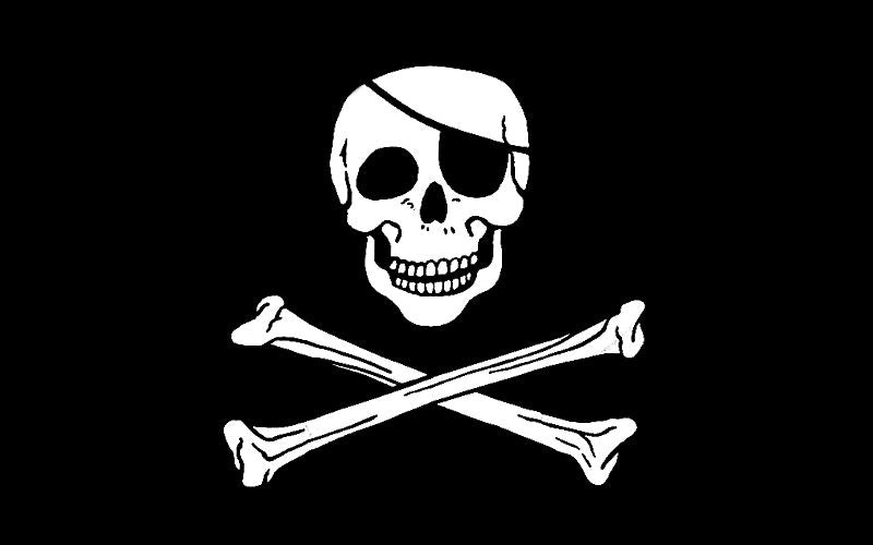 Jolly Roger Polyester Fabric Flag 5ft x 3ft