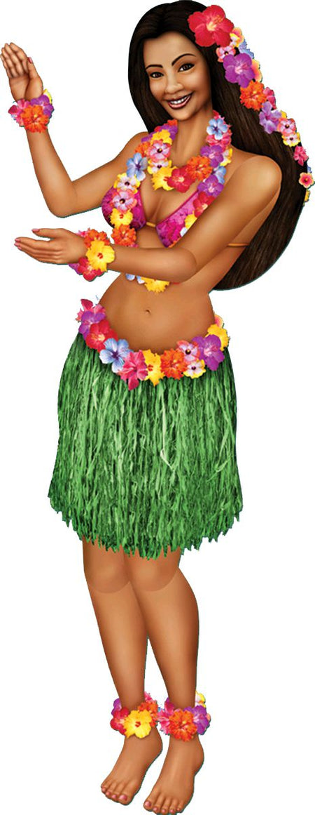 Hula Girl Jointed Cutout Wall Decoration - 96cm