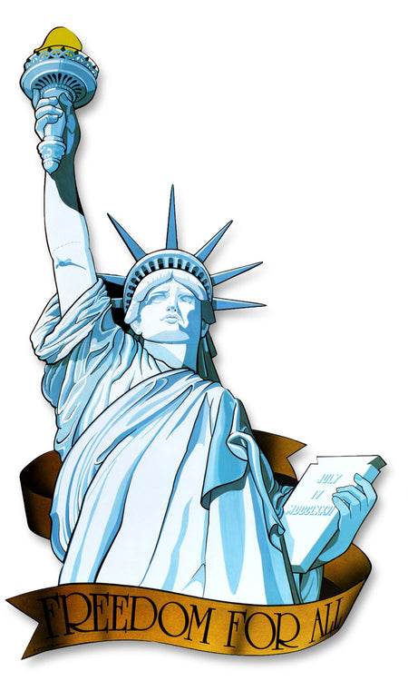 Miss Liberty Card Cutout Wall Decoration - 83cm