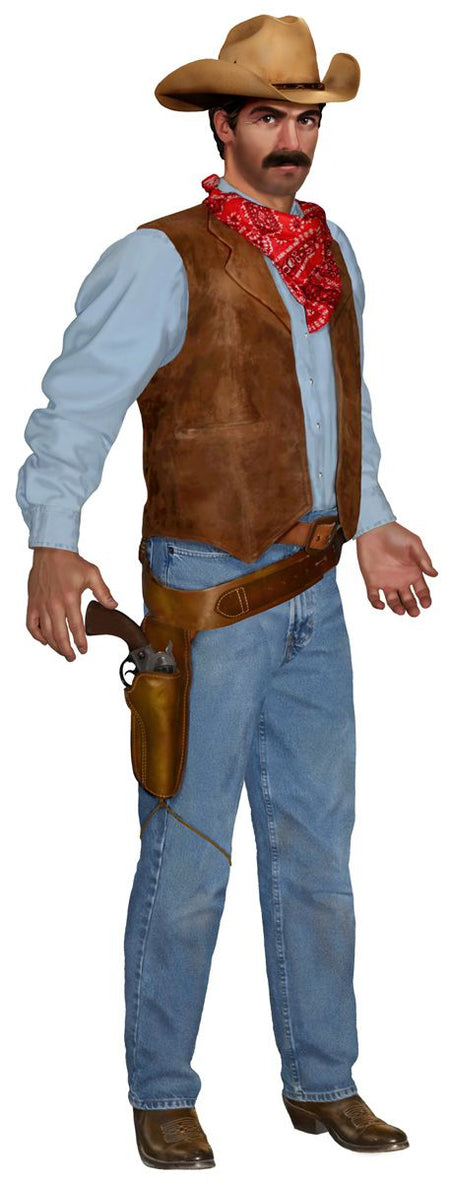 Click to view product details and reviews for Cowboy Jointed Cutout Wall Decoration 90cm.
